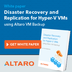 Disaster Recovery and Replication for Hyper-V VMs